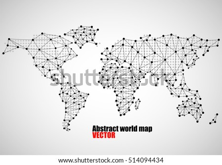 Abstract world map dots line vector stock vector royalty free abstract world map of dots and line vector illustration eps 10 gumiabroncs Gallery
