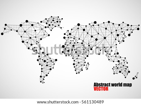 Abstract world map lines world stripes vectores en stock 585227171 abstract world map of dots and line vector illustration eps 10 gumiabroncs Choice Image