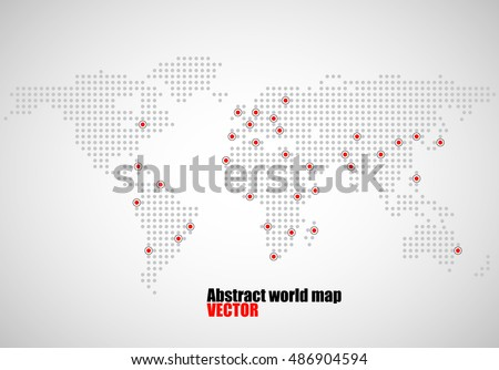 Abstract world map dots capitals countries stock vector 486904594 abstract world map of dots capitals countries vector illustration eps 10 gumiabroncs Choice Image