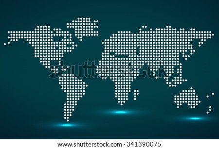 Abstract world map round dots vector vectores en stock 345964763 abstract world map of round dots vector illustration eps 10 gumiabroncs Choice Image