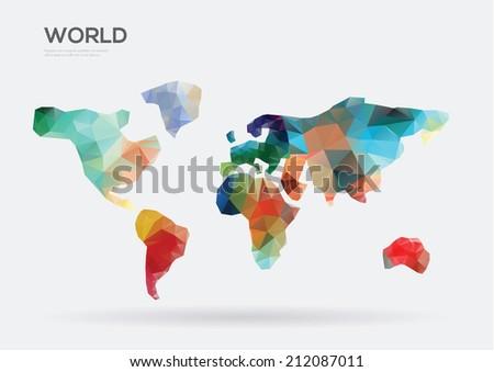 Abstract World map. Vector illustration - stock vector