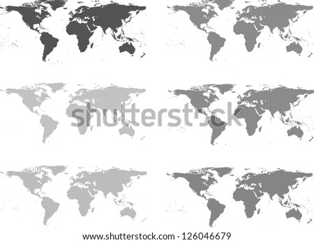 abstract world maps - stock vector
