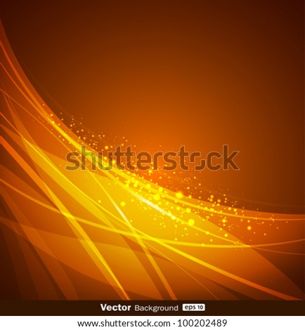 Abstract yellow and orange background design. vector illustration - stock vector