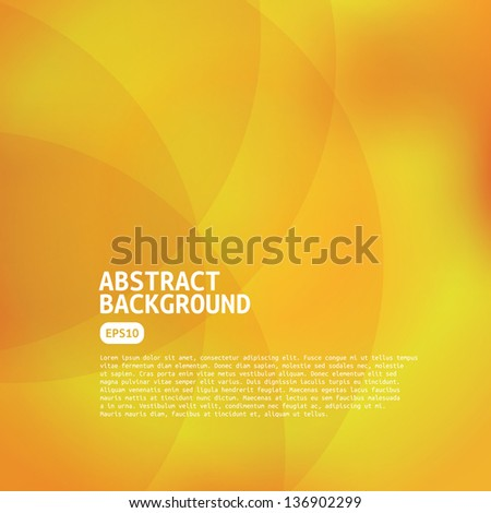 Abstract Yellow Background. - stock vector
