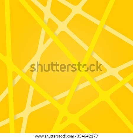 Abstract yellow background. Abstract yellow lines. Overlapping abstract art yellow. Streaks abstract yellow. Abstract yellow tapes. Abstract yellow stripes. Abstract yellow light design 3d background. - stock vector