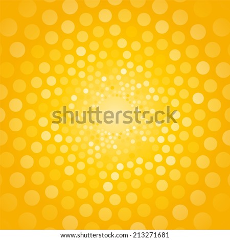 abstract yellow background made of small circles - stock vector
