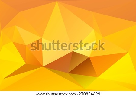 Abstract yellow background of triangular polygons. Eps 10. Vector illustration. - stock vector