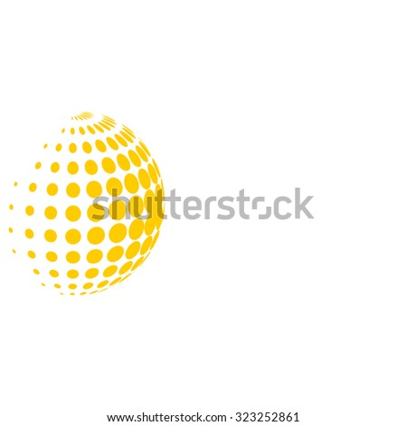 Abstract yellow dots background for your text and logo - stock vector illustration. Light-box     - stock vector