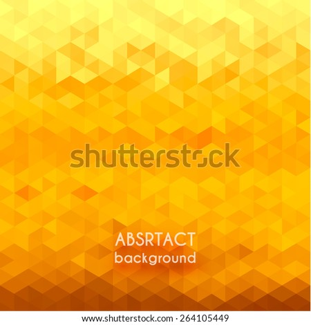 Abstract yellow geometric background - stock vector