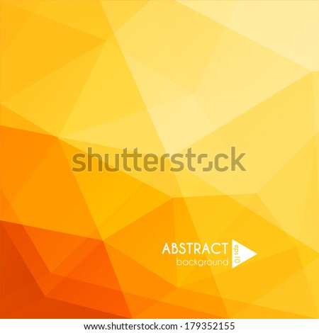 Abstract yellow geometric background - eps10 vector - stock vector