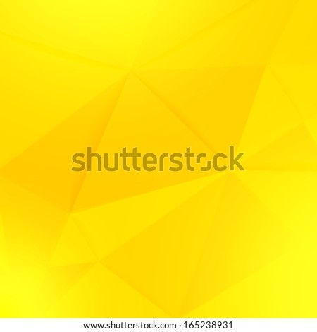 Abstract yellow geometric paper vector background - stock vector