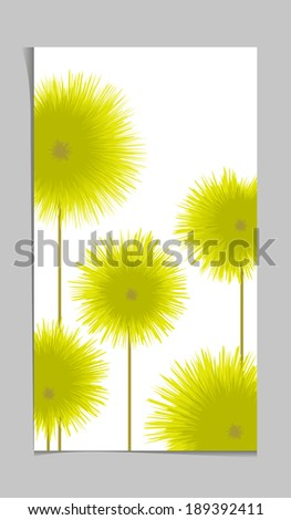 abstract yellow greeting card