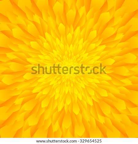 Abstract yellow & orange tones flower background - stock vector
