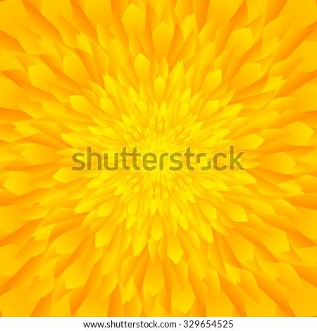 Abstract yellow & orange tones flower background - stock vector