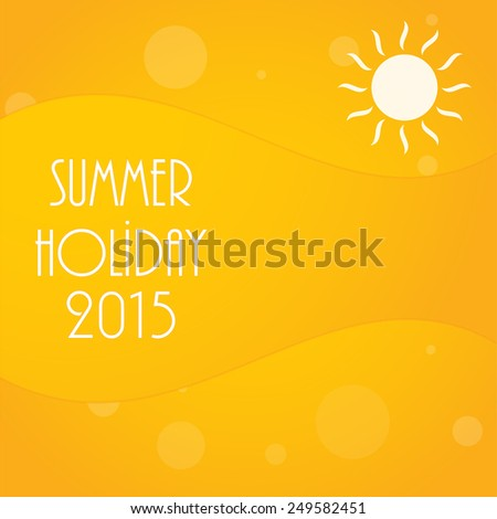 abstract yellow summer background, vector illustration, eps10 - stock vector