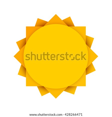 Abstract yellow sun icon. Summer sun concept. Vector illustration. - stock vector