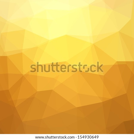 Abstract Yellow Triangle Geometrical Background, Gold Pattern. Vector Illustration EPS10 - stock vector