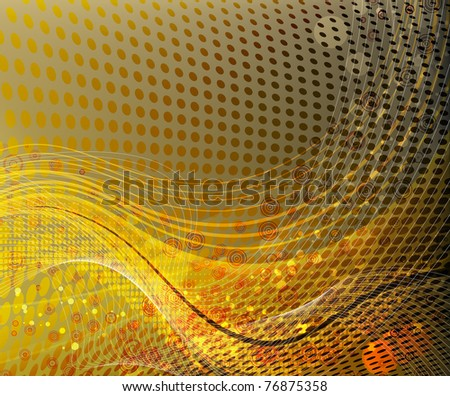 abstract yellow wave - stock vector
