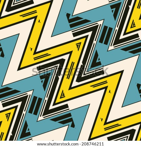Abstract zigzag textured background. Seamless pattern. Vector. - stock vector