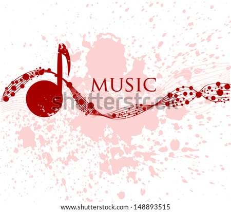 abstraction music - stock vector