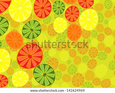 abstraction of citrus