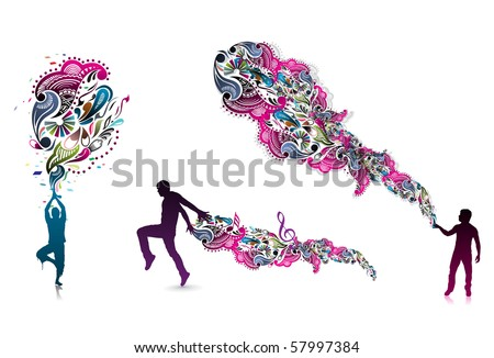 abstraction on a background of magician create a magic power, vector illustration - stock vector