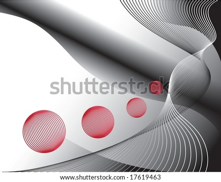 Abstraction space background with planet imitation, vector illustration - stock vector