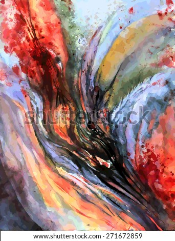 Abstraction,  watercolor - stock vector