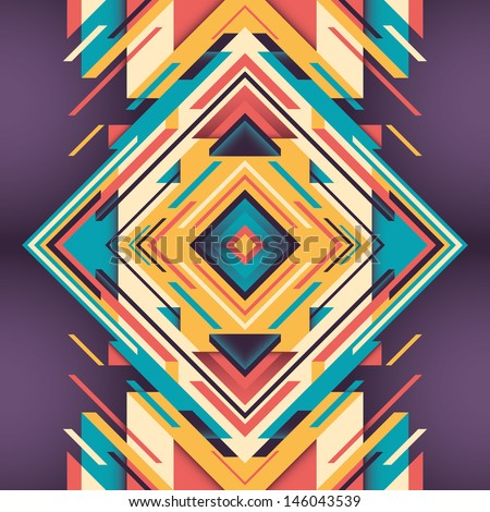 Abstraction with geometric design. Vector illustration. - stock vector