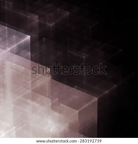Abstracts background with transparent rectangular shapes as conceptual metaphor for modern technology, science and business. - stock vector