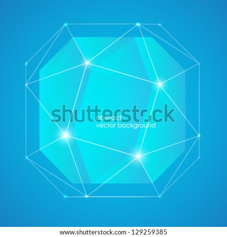 abstraktry vector background on blue background - stock vector