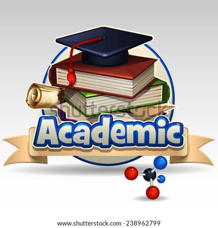 Academic icon - stock vector