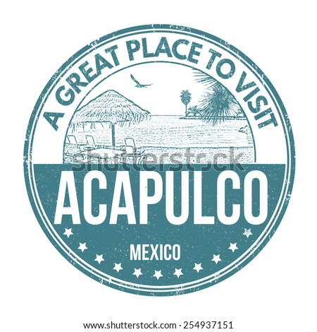 Acapulco grunge rubber stamp on white background, vector illustration
