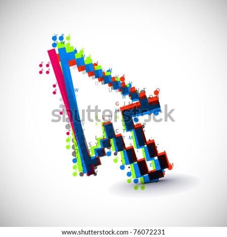 acbtract colorful vector coumputer mouse symbol. - stock vector
