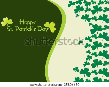 accent curve shamrock background illustration