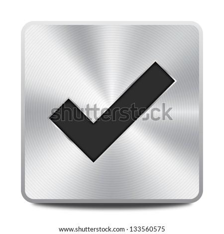 Accept icon / button - stock vector