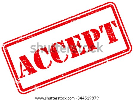 Accept Rubber Stamp - stock vector