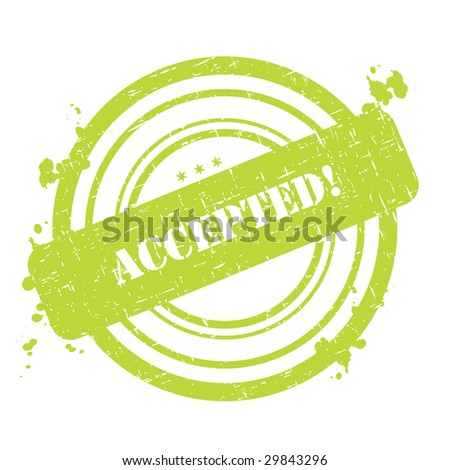 Accepted stamp graphic illustration isolated on white background - stock vector