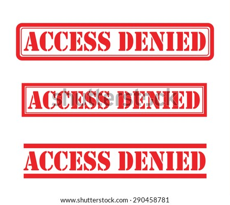 Access denied stamp vector set - stock vector