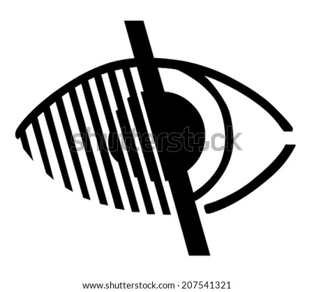 Access for Impaired Vision Eye Symbol - stock vector