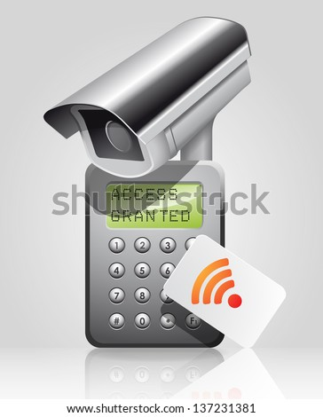 Access granted - stock vector