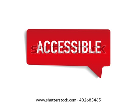 ACCESSIBLE on speech bubble