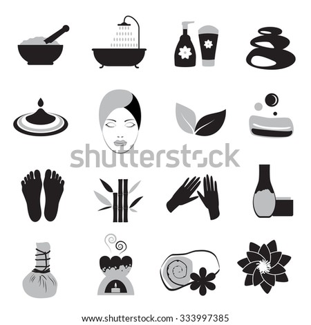 Accessories set for massage and spa