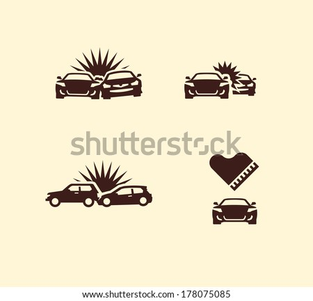 Accident. Vector format - stock vector