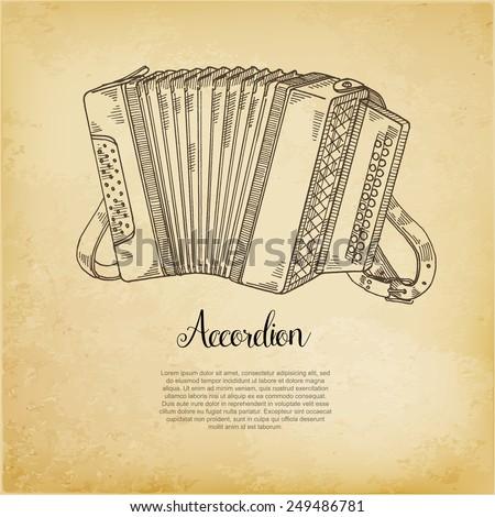 accordion vector illustration - stock vector