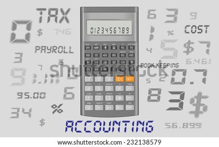 accounting calculator  - stock vector