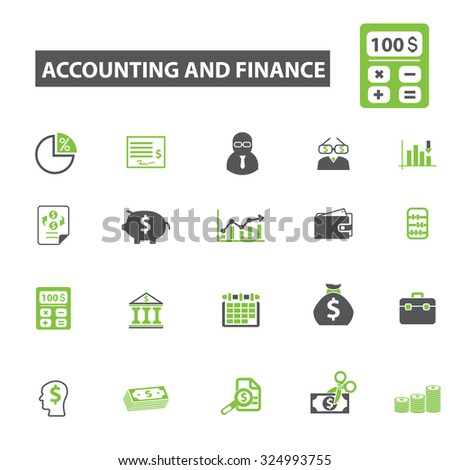 accounting, finance icons - stock vector