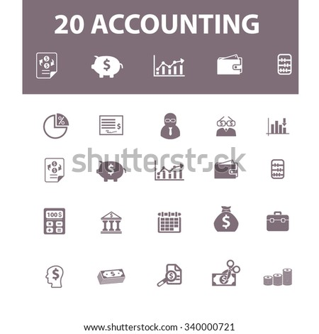 accounting, finance  icons, signs vector concept set for infographics, mobile, website, application  - stock vector