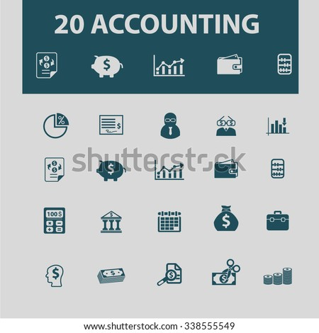 accounting icons - stock vector