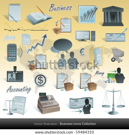 Accounting icons set
